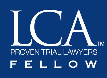 Litigation Counsel of America Blue box new badge F